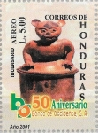 Sellos de America - Honduras -  L Aniv. Banco Occidente. Cerámica maya