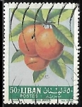 Sellos del Mundo : Asia : Líbano : Citrus sinensis