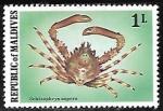 Sellos del Mundo : Asia : Maldivas : Common Decorator Crab