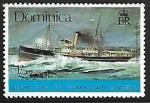 Sellos del Mundo : America : Dominica : Royal mail steamer