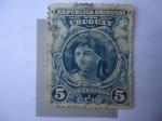 Sellos de America - Uruguay -  República Oriental del Uruguay - Cabeza de Girs-Estatua-Símbolo.