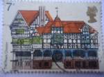 Sellos de Europa - Reino Unido -  The Rows-Ciudad de Chester-Año de Herencia Arquitectónica - Chaster-Europa.