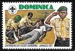 Sellos del Mundo : America : Dominica : Movimiento Scout