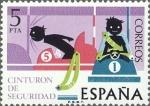 Sellos de Europa - España -  ESPAÑA 1976 2314 Sello Nuevo Seguridad Vial Cinturón de Seguridad