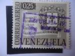 Sellos de America - Venezuela -  Cuatricentenario de la Fundación de Santiago de Mérida de los Caballeros (1558-1958) Escudo de Armas