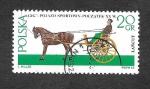 Sellos de Europa - Polonia -  1378 - Carruajes tirados por Caballos
