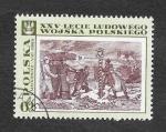 Sellos de Europa - Polonia -  1616 - 25º Anviersario del Ejercito Popular Polaco (Pintura)