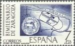 Sellos de Europa - España -  ESPAÑA 1976 2320 Sello Nuevo Bimilenario De Zaragoza Plano de la Ciudad Romana