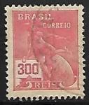 Sellos de America - Brasil -  Mercurio y el Globo