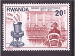 Sellos de Africa - Rwanda -  Primera conexión telefonica