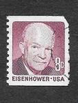 Sellos de America - Estados Unidos -  1395 - Dwight David Eisenhower