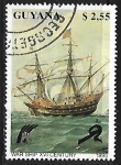 Sellos del Mundo : America : Guayana_Francesa : War Ship