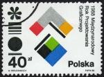 Sellos del Mundo : Europa : Polonia : RES-1988 MIEDZYNARODOWY ROK PROJEKTOWANIA GRAFICZNEGO - 1988 AÑO INTERNACIONAL DE DISEÑO GRÁFICO