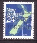 Sellos de Oceania - Nueva Zelanda -  Mapa de N. Z.
