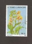 Sellos de Africa - Santo Tomé y Principe -  Flor Salaconta