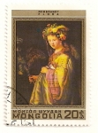Sellos de Asia - Mongolia -  375 Aniv. del nacimiento de Rembrandt. Flora