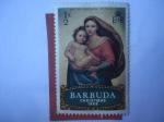 Sellos de America - Antigua y Barbuda -  Navidad 1969 - Madonna- Oleo de Raphael Sancio (148-1520).
