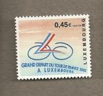 Sellos del Mundo : Europa : Luxemburgo : Salida del Tour de Francia desde Luxemburgo