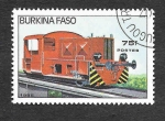 Sellos de Africa - Burkina Faso -  733 - Locomotora