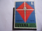 Sellos de America - Guyana -  Pascua 74