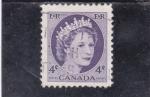 Sellos de America - Canadá -  ISABEL II
