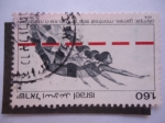 Sellos del Mundo : Asia : Israel :  Juegos Olímpicos, Montreal 1976 - Salto de Altura.