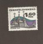 Sellos de Europa - Checoslovaquia -  Iglesia de Saris en Eslovaquia