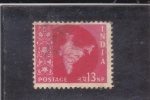 Sellos de Asia - India -  MAPA DE LA INDIA