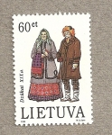 Sellos del Mundo : Europa : Lituania : Trajes regionales siglo XIX