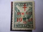 Sellos de Europa - Grecia -  Sobrestampación en Sello del Año 1927 . Impuestos Postales para Tuberculosos.