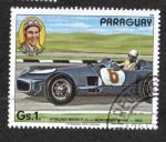 Sellos del Mundo : America : Paraguay : Piloto de Fórmula 1, Stirling Moss; Mercedes W 196 (1954)
