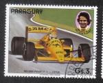 Sellos del Mundo : America : Paraguay : Piloto de Fórmula 1, Nelson Piquet, Lotus