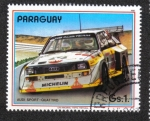 Sellos del Mundo : America : Paraguay : Coches de rally, Audi Sport - Quattro