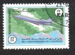Sellos de Asia - Afganistán -  40 Aniversario de la Aviación,Tupolev Tu-154