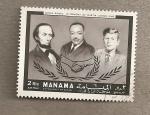 Sellos de Asia - Bahrein -  En memoria M. L. King