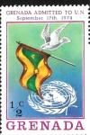 Sellos de America - Granada -  Admisión de Granada ala ONU, 17 de septiembre de 1974