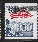Sellos del Mundo : America : Estados_Unidos : Bandera y Casa Blanca,