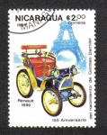 Sellos de America - Nicaragua -  150 aniversario del Nacimiento de Gottlieb Daimler