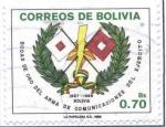 Sellos del Mundo : America : Bolivia : Bodas de Oro Arma de Comunicaciones del Ejercito