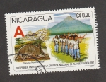 Sellos de America - Nicaragua -  Armadillo