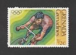 Sellos de America - Granada -  Olimpiada Monteral. Ciclismo