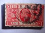 Sellos de Europa - Reino Unido -  Silver Jubilee-Bodas de Plata, 1910-1935-King George V. - One penny- Postage Revenue.