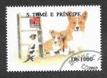 Sellos de Africa - Santo Tomé y Principe -  1242 - Perro y Gato