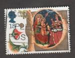Sellos de Asia - Reino Unido -  reproducción cuadro bizantino