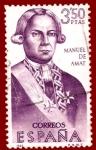 Sellos del Mundo : Europa : España : Edifil 1756 Manuel de Amat 3,50