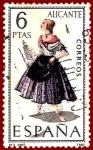 Sellos del Mundo : Europa : España : Edifil 1769 Traje regional Alicante 6