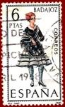 Sellos del Mundo : Europa : España : Edifil 1772 Traje regional Badajoz 6