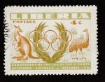 Sellos de Africa - Liberia -  Conmemorando los Juegos Olímpicos de Melbourne de 1956