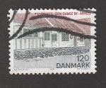 Sellos de Europa - Dinamarca -  Estafeta de correos en Ahrus