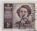Sellos de Oceania - Australia -  S.A.R. La Princesa Elizabeth